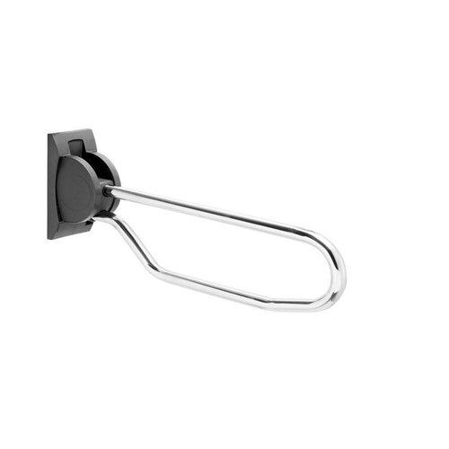 Toiletbeugel Handicare Linido Opklapbaar Aangepast Sanitair 80 cm RVS Gepolijst Antraciet