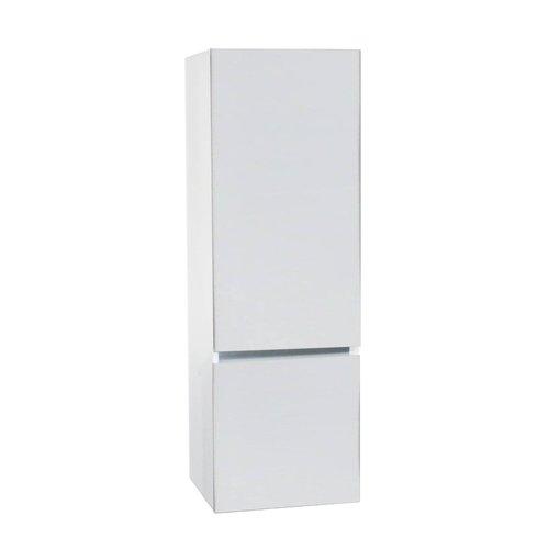 Kolomkast BWS Twee Soft-Close deuren Greeploos 50x35x150 cm Rechts Hoogglans Wit