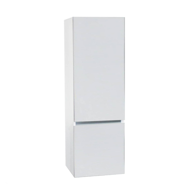 badkamer kolomkast Isvea Twee Soft-Close deuren Greeploos 50x35x150 cm Rechts Hoogglans Wit Isvea