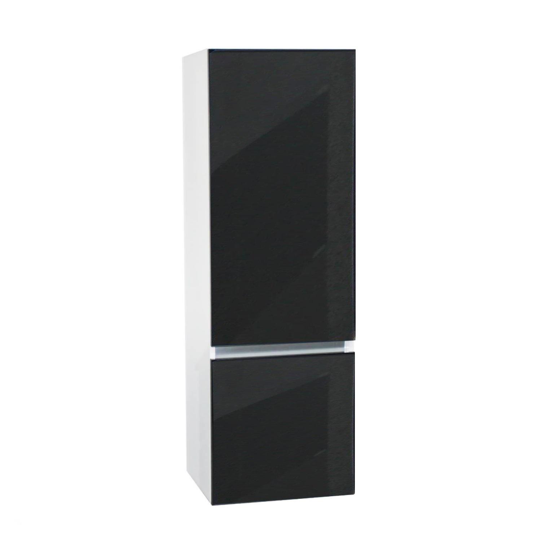 badkamer kolomkast Isvea Twee Soft-Close deuren Greeploos 50x35x150 cm Rechts Hoogglans Antraciet Isvea