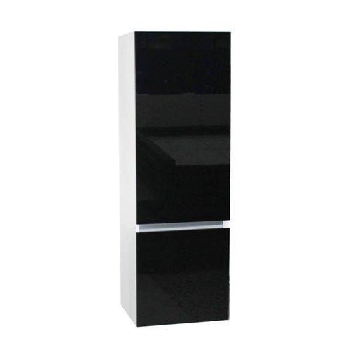 Kolomkast Isvea Twee Soft-Close deuren Greeploos 50x35x150 cm Rechts Hoogglans Zwart