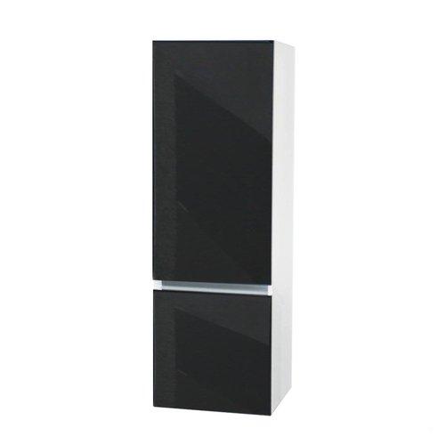 Kolomkast Isvea Twee Soft-Close deuren Greeploos 50x35x150 cm Links Hoogglans Antraciet