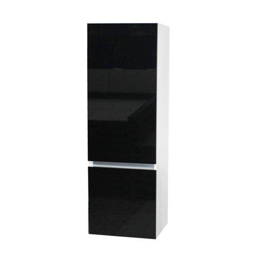 Kolomkast Isvea Twee Soft-Close deuren Greeploos 50x35x150 cm Links Hoogglans Zwart