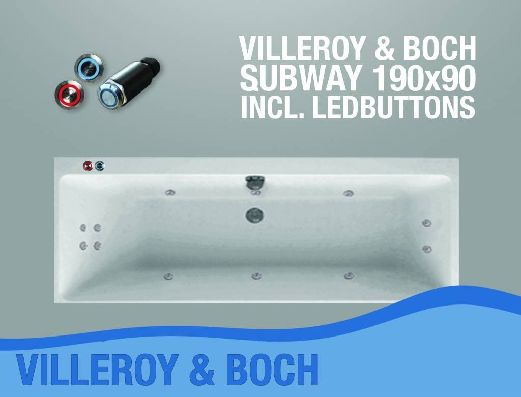 Subway Whirlpool 190X90X50 Cm Met Balboa Whirlpool Bad Systeem