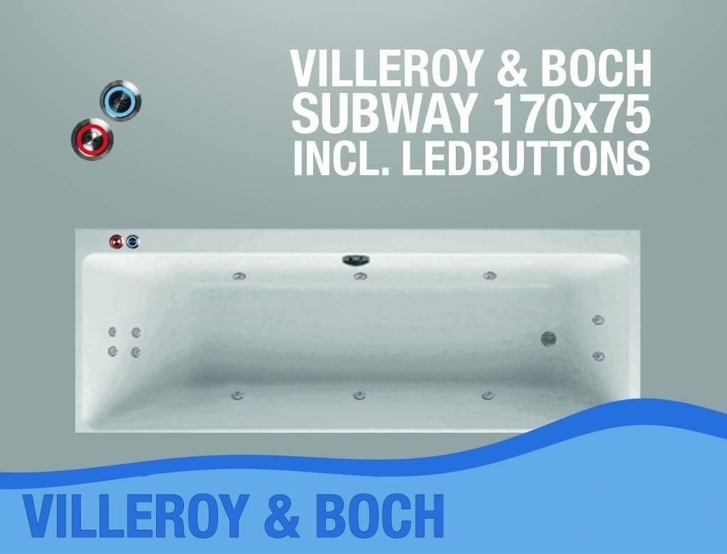 Subway Whirlpool 170X75X45 Cm Met Balboa Whirlpool Bad Systeem