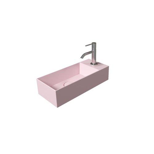 Fontein Salenzi Spy 45x20 cm Mat Roze (inclusief bijpassende clickwaste)