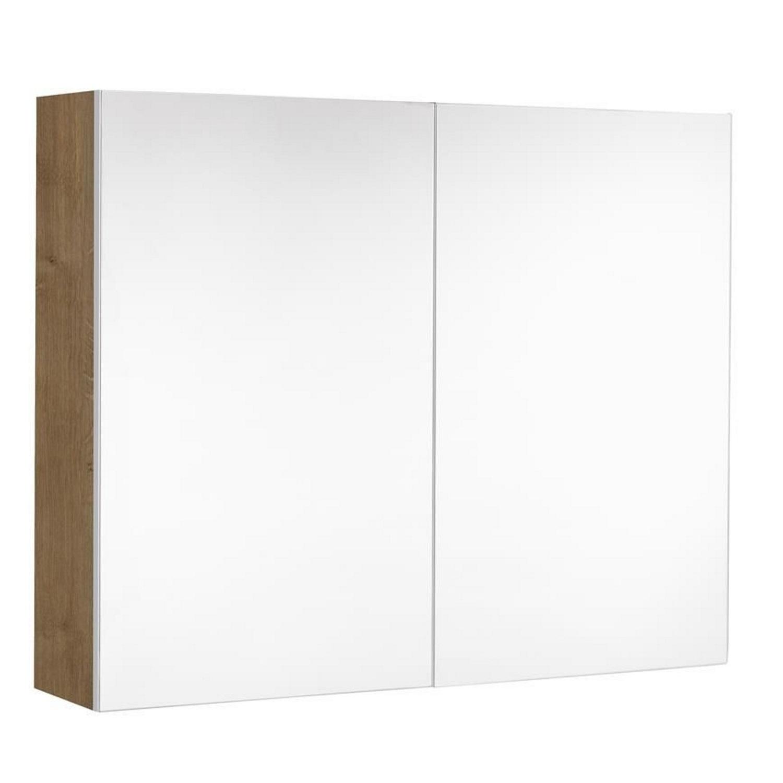 badkamer spiegelkast Allibert Marny 80x65x18 cm UTE Stopcontact Eik Arlington Allibert