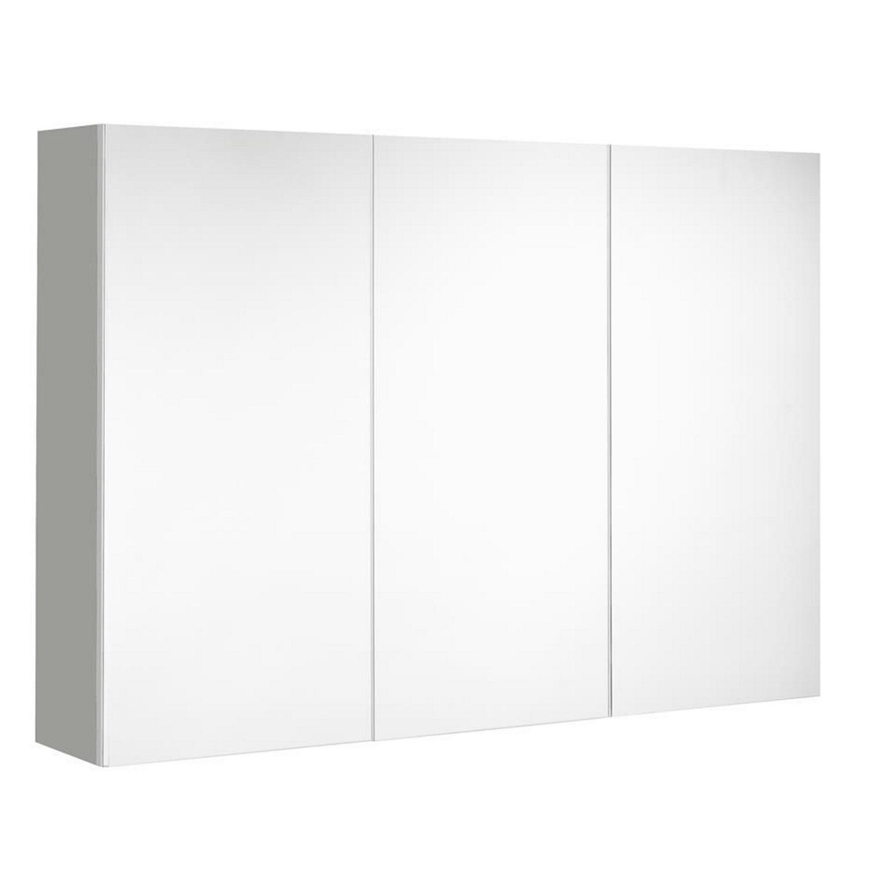 badkamer spiegelkast Allibert Mira 100x65x18 cm UTE stopcontact Ultra Mat grijs Allibert