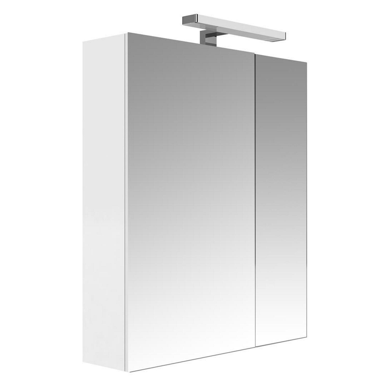 Spiegelkast Allibert Juno Met Verlichting 60x75.2x16 cm Glanzend Wit