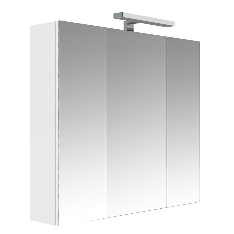Spiegelkast Allibert Juno Met Verlichting 80x75.2x16 cm Glanzend Wit