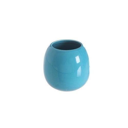 Tandenborstelhouder Beker Vrijstaand Allibert Oops 9,5 cm Porselein Glanzend Blauw