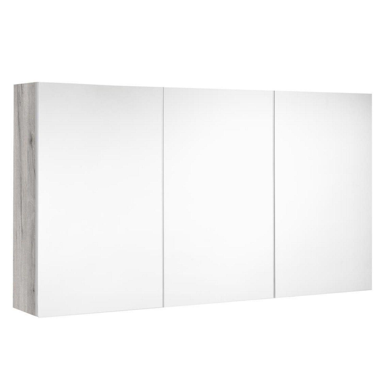 badkamer spiegelkast Allibert Look Stopcontact UTE 120x65x18 cm Eik Vintage Allibert