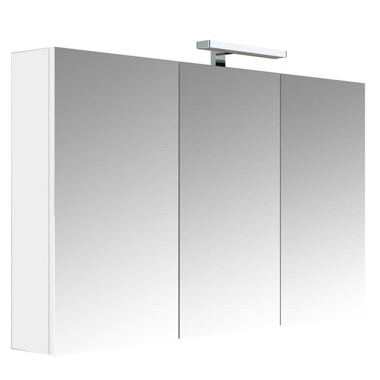 badkamer spiegelkast Allibert Juno Met Verlichting 120x75,2x16 cm Wit Glanzend Allibert