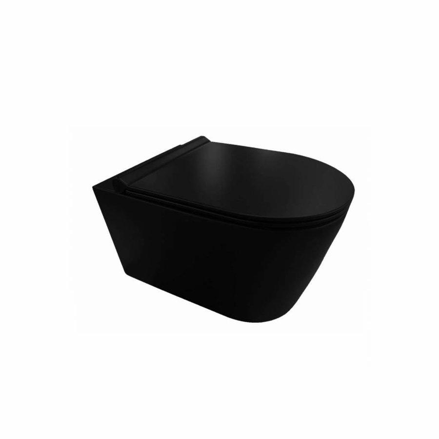 UP320 Toiletset 35 Civita Black Rimless Sigma 30 Mat Zwart  Drukplaat
