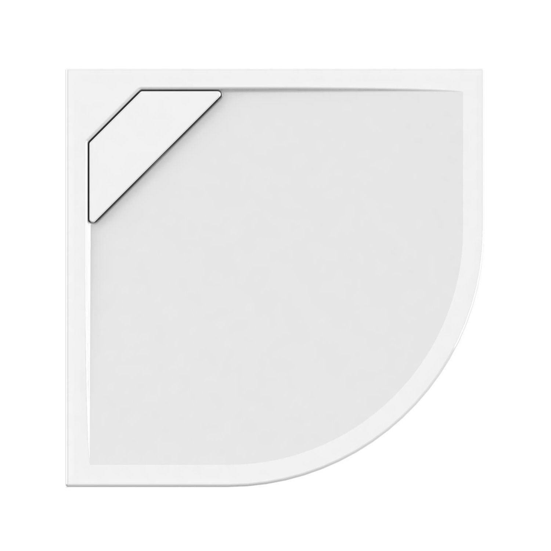 Douchebak Allibert Puretex Kwartrond 90x90x4,5 cm Glanzend Wit (afvoer optioneel)