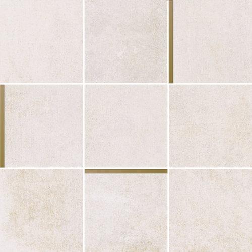 Mozaiek Arcana Avelin Sand 30x30 cm Creme met Goud Detail Prijs P/m2