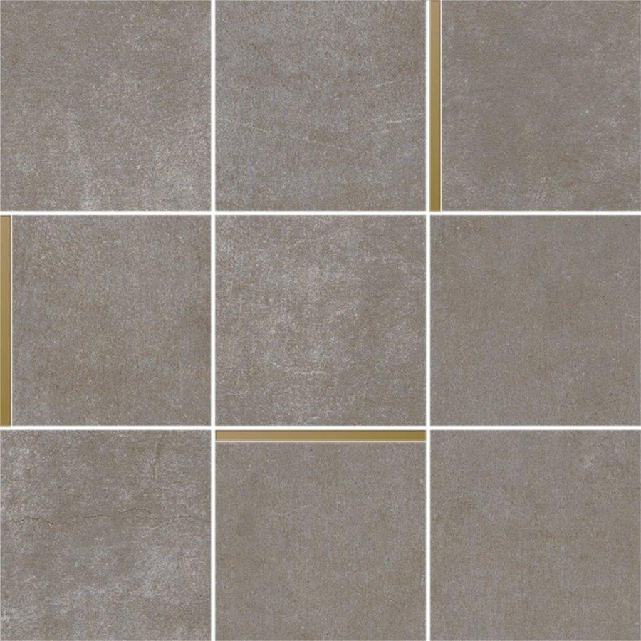 Mozaiek Arcana Avelin Niquel 30x30 cm Donker Grijs met Goud Detail Prijs P/m2