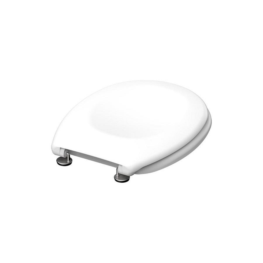 Toiletzitting Schutte White Duroplast RVS Scharnieren Gelakt Wit