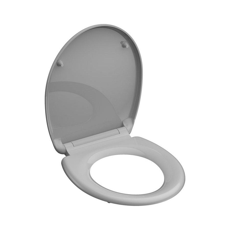 Toiletzitting Schutte GREY Duroplast Met Soft Close En Quick Release Gelakt Grijs