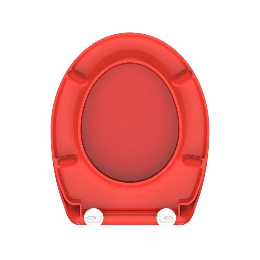 Toiletzitting Schutte Red Duroplast Met Soft Close En Quick Release Gelakt Rood
