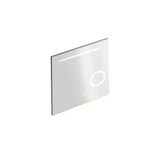 Badkamerspiegel met Verlichting Xenz Desenzano 80x70 cm met Spiegelverwarming en Scheerspiegel