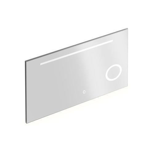 Badkamerspiegel met Verlichting Xenz Desenzano 140x70 cm met Spiegelverwarming en Scheerspiegel