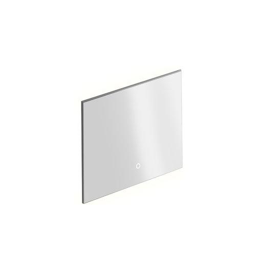 Badkamerspiegel Xenz Garda 80x70 cm Verlichting aan Onder- en Bovenzijde en Spiegelverwarming