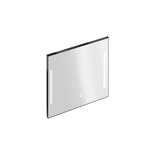 Badkamerspiegel met Verlichting Xenz Pacengo 80x70 cm Industrieel Zwart Frame en Spiegelverwarming