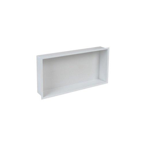 Inbouwnis Plieger Inbox Wand Met Flens 60x30x7.5cm Waterproof RVS