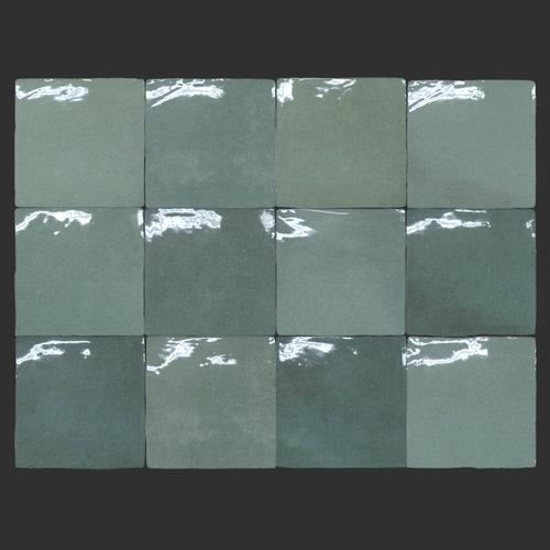 Wandtegel Grafti Artisan Verde Brillo 13x13 cm Prijs P/m2
