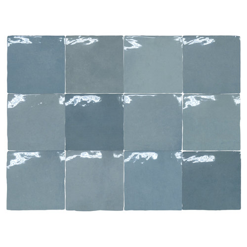 Wandtegel Grafti Artisan Azul Brillo 13x13 cm Prijs P/m2