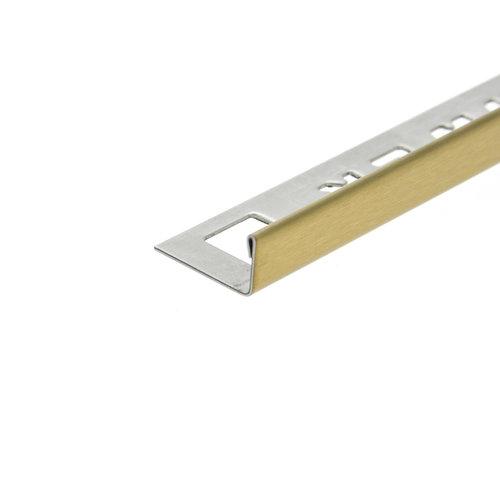 Tegelprofiel OX-Tools Eltex 11mm 270 cm RVS Geborsteld Goud