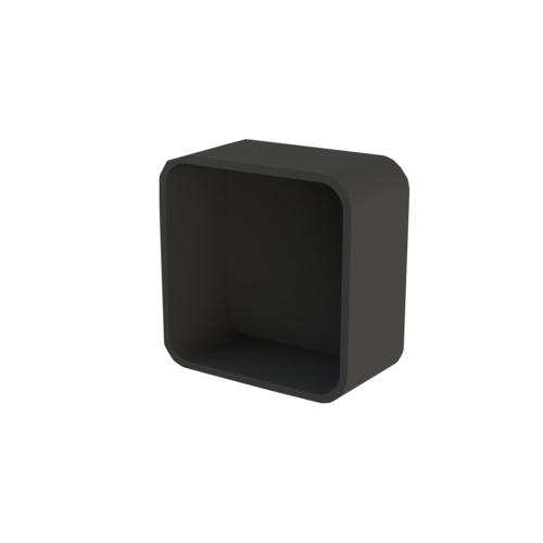 Inbouwnis Boss & Wessing Cast Marble 30x30x8,5 cm Mat Zwart