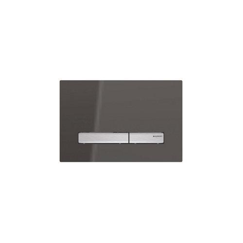 Bedieningsplaat Geberit Sigma 50 DF Spiegelend Rookglas