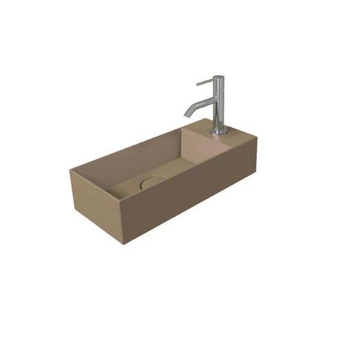 Fontein Salenzi Spy 45x20 cm Mat Taupe (inclusief bijpassende clickwaste)