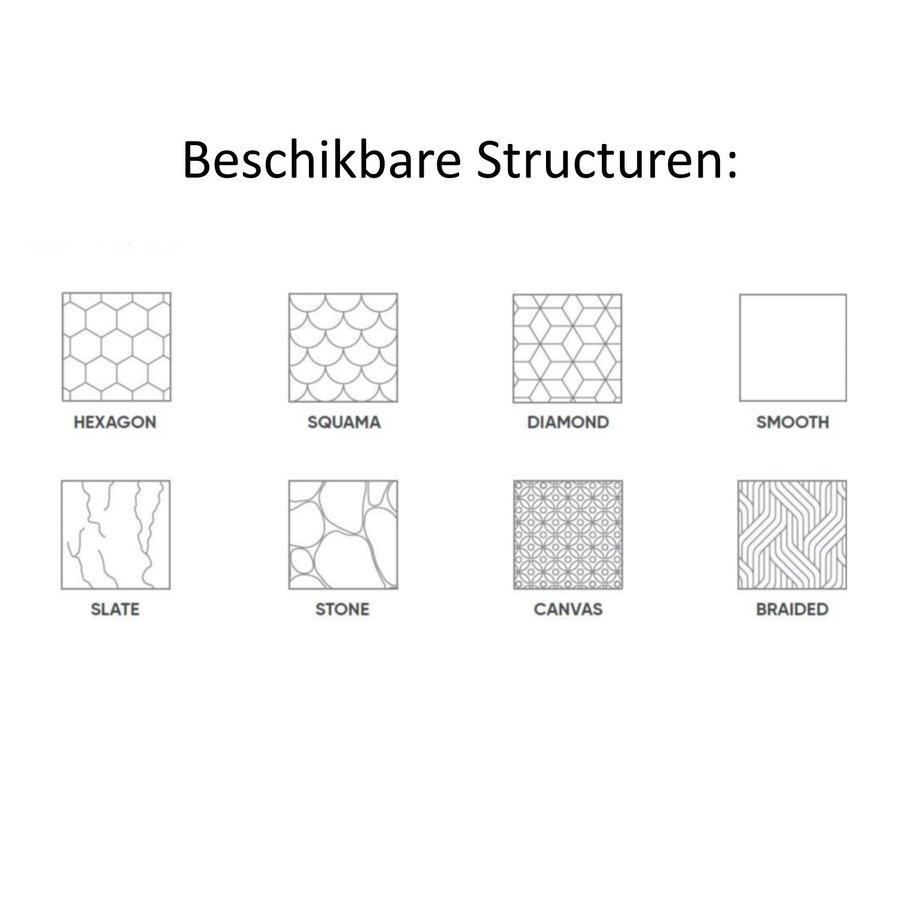 Douchebak Texence Hexagon met Afvoer Hoogwaardig Composiet (alle maten, alle kleuren)