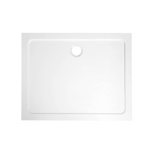 Douchebak Marmer Sapho Aqualine 100x70x3 cm Rechthoek Wit