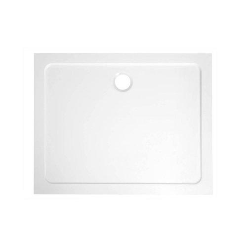Douchebak Marmer Sapho Aqualine 100x80x3 cm Rechthoek Wit