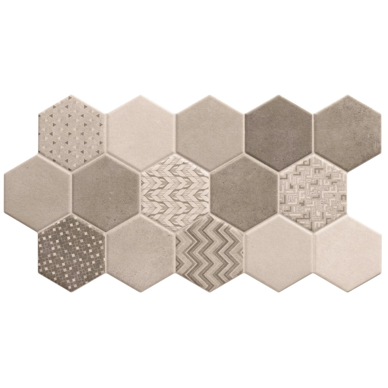 Hexagon Vloertegel Habitat Hex Ice 26.5x51 cm