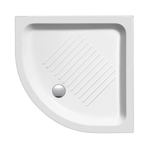 Douchebak Keramiek Sapho Ceramic Shower Trays 80x80x11 cm Kwartrond Wit