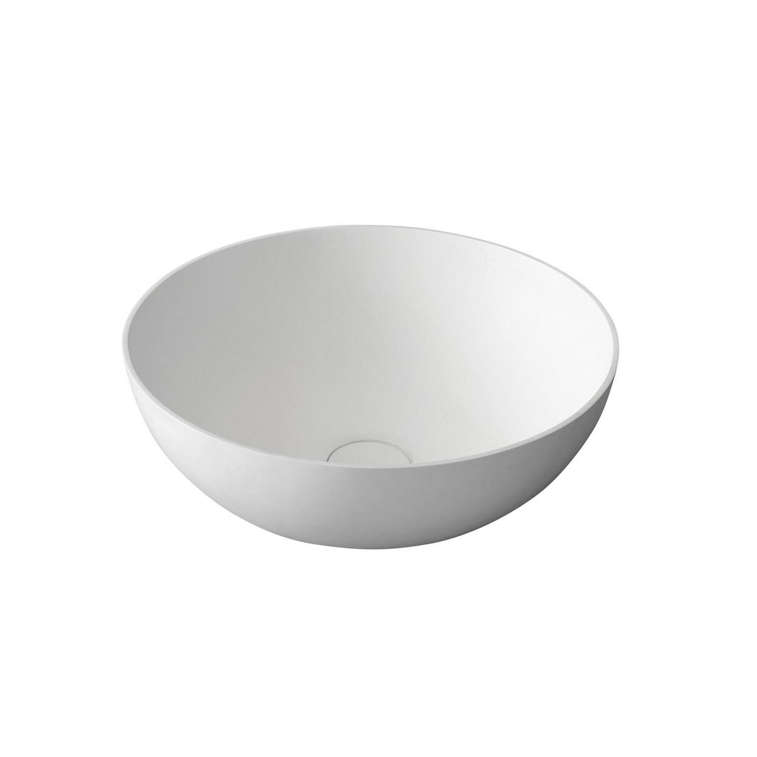 Waskom Sapho Thin Rond 39x14.5 cm Solid Surface Wit Sapho