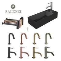 Salenzi Fonteinset Spy 45x20 cm Mat Zwart (Keuze uit 8 kranen in 4 kleuren)