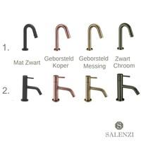 Salenzi Fonteinset Spy 45x20 cm Mat Wit (Keuze uit 8 kranen in 4 kleuren)