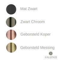 Salenzi Fonteinset Spy 45x20 cm Mat Antraciet (Keuze uit 8 kranen in 4 kleuren)