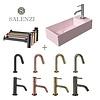 Salenzi Salenzi Fonteinset Spy 45x20 cm Mat Roze (Keuze uit 8 kranen in 4 kleuren)