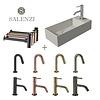 Salenzi Salenzi Fonteinset Spy 45x20 cm Mat Grijs (Keuze uit 8 kranen in 4 kleuren)
