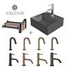 Salenzi Salenzi Fonteinset Spy 30x30 cm Mat Antraciet (Keuze uit 8 kranen in 4 kleuren)