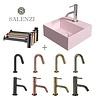 Salenzi Salenzi Fonteinset Spy 30x30 cm Mat Roze (Keuze uit 8 kranen in 4 kleuren)