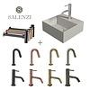 Salenzi Salenzi Fonteinset Spy 30x30 cm Mat Grijs (Keuze uit 8 kranen in 4 kleuren)