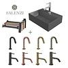 Salenzi Salenzi Fonteinset Spy 40x30 cm Mat Antraciet (Keuze uit 8 kranen in 4 kleuren)